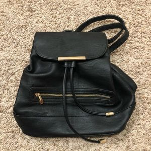 Black with Gold Fashion Backpack